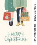christmas and happy new year... | Shutterstock .eps vector #1527027839