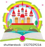 enchanted world castle   the... | Shutterstock .eps vector #1527029216
