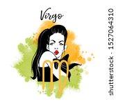 virgo girl. zodiac signs girl... | Shutterstock .eps vector #1527064310