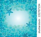 decorative blue sea floor card... | Shutterstock .eps vector #152707154