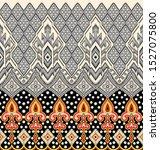 seamless textile fabric border... | Shutterstock . vector #1527075800