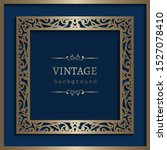 vintage gold square frame with... | Shutterstock .eps vector #1527078410