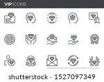 vip vector line icons set. very ... | Shutterstock .eps vector #1527097349