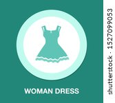 vector elegant woman dress... | Shutterstock .eps vector #1527099053