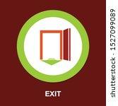 emergency exit sign  exit door... | Shutterstock .eps vector #1527099089