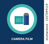 camera film icon in flat style...