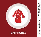bathrobes icon   vector clothes ... | Shutterstock .eps vector #1527099266