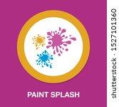 paint splash icon  ink splatter ... | Shutterstock .eps vector #1527101360