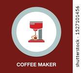 coffee maker icon   kitchen... | Shutterstock .eps vector #1527101456