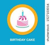 vector birthday cake... | Shutterstock .eps vector #1527103016
