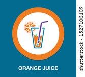 fresh orange juice glass ... | Shutterstock .eps vector #1527103109