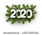 white 2020 background with fir... | Shutterstock .eps vector #1527103763