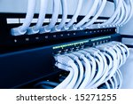 cables patch panel and network... | Shutterstock . vector #15271255