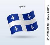 Province Of Quebec Flag Waving...