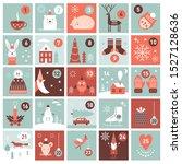 christmas advent calendar.... | Shutterstock .eps vector #1527128636