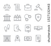 lawyer and law linear icons set.... | Shutterstock .eps vector #1527132443