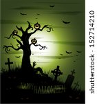 greeny halloween background eps ... | Shutterstock .eps vector #152714210