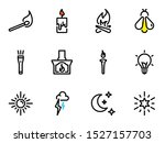 set of black vector icons ... | Shutterstock .eps vector #1527157703