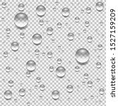 water drops isolated on... | Shutterstock .eps vector #1527159209