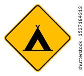 tent and road sign on white | Shutterstock .eps vector #1527184313