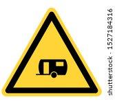 trailer and danger sign on white | Shutterstock .eps vector #1527184316