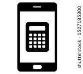 calculatur and smartphone on... | Shutterstock .eps vector #1527185300