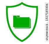 folder and shield on white | Shutterstock .eps vector #1527185306