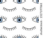 abstract seamless eyes pattern... | Shutterstock .eps vector #1527197063