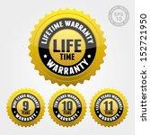 vector   warranty badge and... | Shutterstock .eps vector #152721950