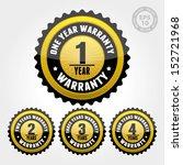 vector   black gold warranty... | Shutterstock .eps vector #152721968