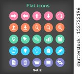 vector round flat icon set  2...