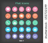 vector round flat icon set  1...
