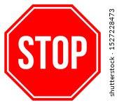 stop sign vector illustration.... | Shutterstock .eps vector #1527228473