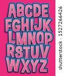 trendy 3d comical font design ... | Shutterstock .eps vector #1527266426