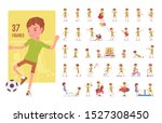 boy child 7 to 9 years old ... | Shutterstock .eps vector #1527308450