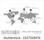 abstract polygonal world map... | Shutterstock .eps vector #1527318476