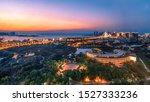 Sunset Glow in a Coastsl City-Haikou
