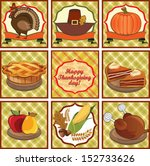 happy thanksgiving day  label... | Shutterstock .eps vector #152733626