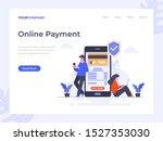 online payment flat vector...