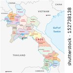 laos administrative map | Shutterstock .eps vector #152738138