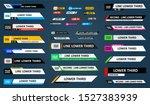 tv news bars set vector. news... | Shutterstock .eps vector #1527383939