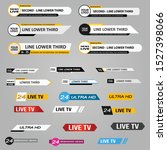 lower third tv news bars set... | Shutterstock .eps vector #1527398066