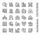 business people line icons set... | Shutterstock .eps vector #1527415040