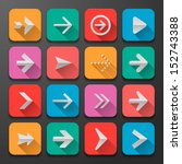set arrow icons  flat ui design ...