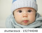 Cute Baby  Face Closeup ...