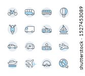 set of public transport related ... | Shutterstock .eps vector #1527453089