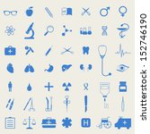 medical icon set | Shutterstock .eps vector #152746190