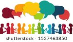 communication group people.... | Shutterstock . vector #1527463850
