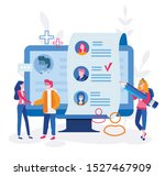 staff recruitment or employee... | Shutterstock .eps vector #1527467909