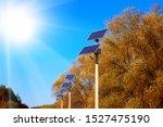 Street Lights With Solar Panels....